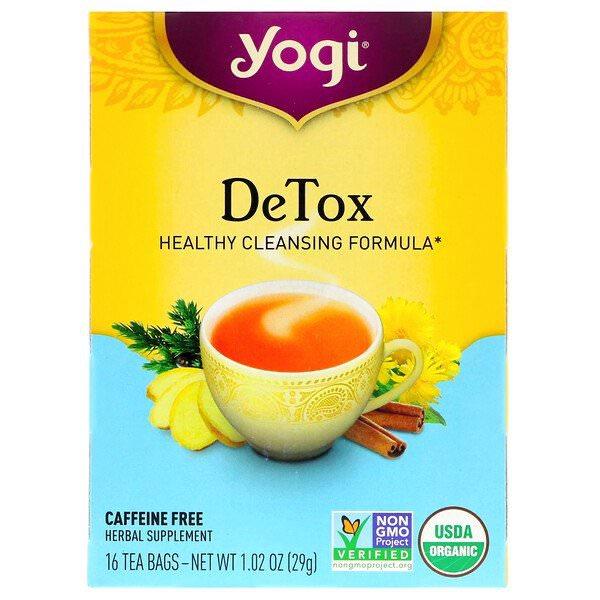 Yogi Tea, デトックス、カフェインフリー
