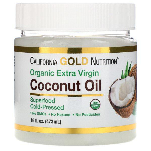 California Gold Nutrition, コールドプレスオーガニックバージンココナッツオイル