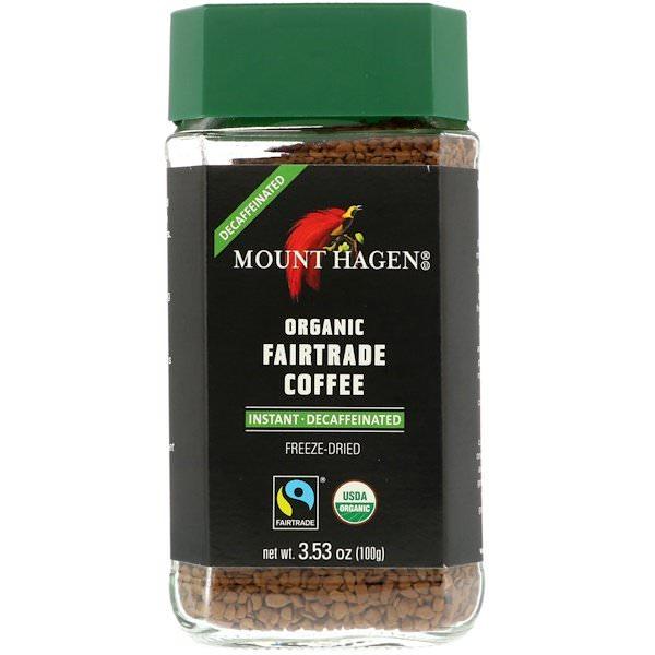 Mount Hagen, オーガニックフェアトレードインスタントコーヒー、カフェイン抜き