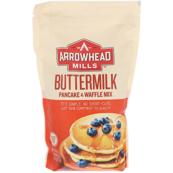 Arrowhead Mills, バターミルク、ホットケーキ&ワッフルミックス
