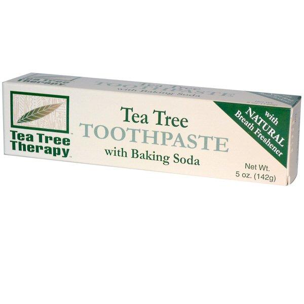 Tea Tree Therapy, ティーツリー歯磨き粉、 重曹入り