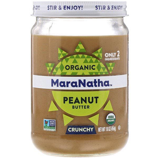 MaraNatha, オーガニック・ピーナッツバター, クランチー 無糖