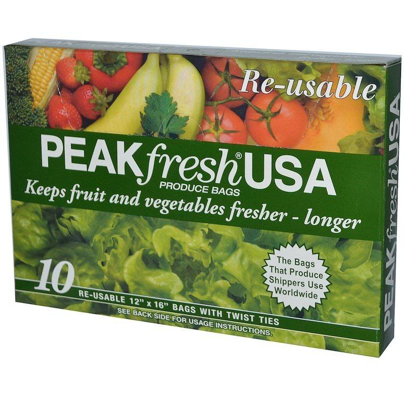 野菜果物が長持ちする保存袋「PEAKfresh USA」
