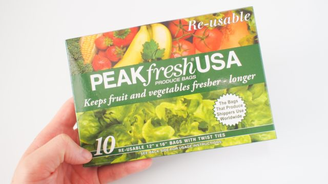 野菜果物が長持ちする魔法の袋PEAKfresh USA【再利用可】